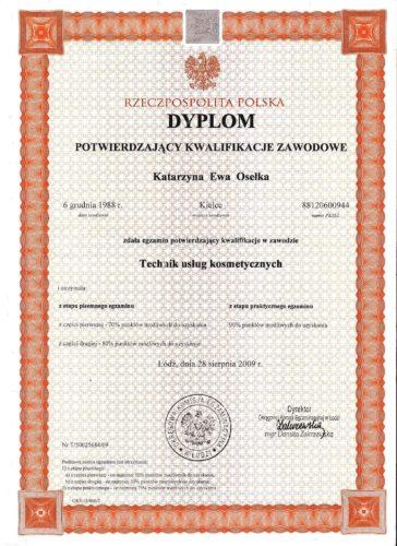Dyplom potwierdzający kwalifikacje zawodowe